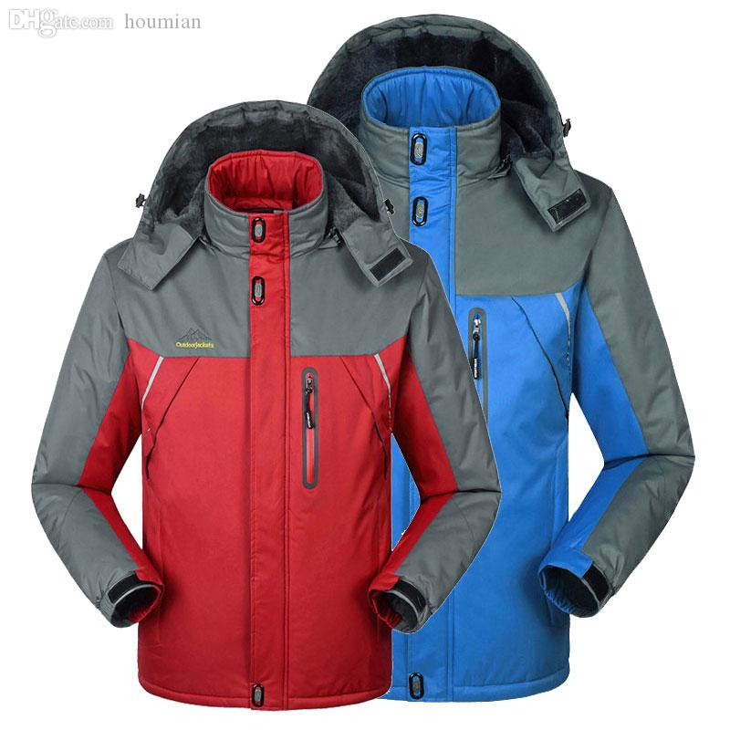 552339972e2 Wholesale-7xl 8xl Plus Size Men women Fleece Warm Winter Ski Jacket Couples  Waterproof Windproof Ski Wear Outdoor Male Breathable Ski Wearing Bangles  Wear ...