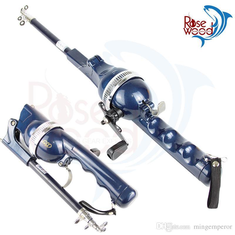 Дешевые портативный удочка складной стержень телескопический Полюс 1.3 м длина 24 см Карп рыболовные снасти Бесплатная доставка