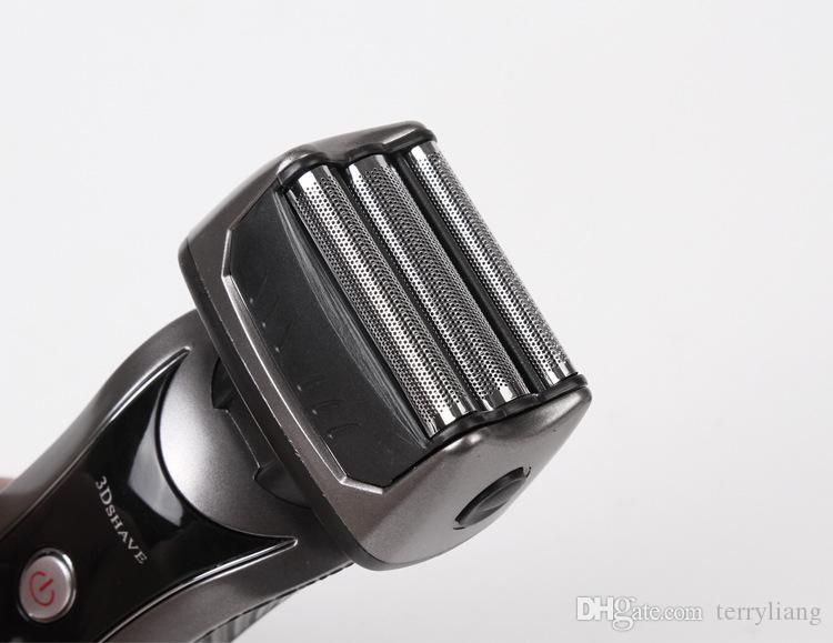 Taşınabilir Yeni 3D Başkanı Erkekler Şarj edilebilir tıraş makinesi Elektrikli tıraş makinesi Razor adam sakal düzeltici ve bıyık kesme makinesi jilet AB 220v