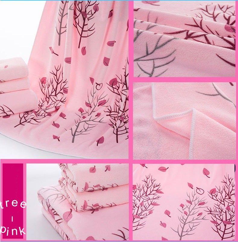 microfibra toalla de baño de los niños determinados del regalo del baño toalla cara de dibujos animados árbol de puntos toalla conejo azul rosa