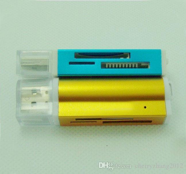 WSZYSTKIE W ONE USB 2.0 KART KARTY MULTI MEMORY KART Czytnik do mikro SD / TF M2 MMC SDHC MS Darmowa Wysyłka