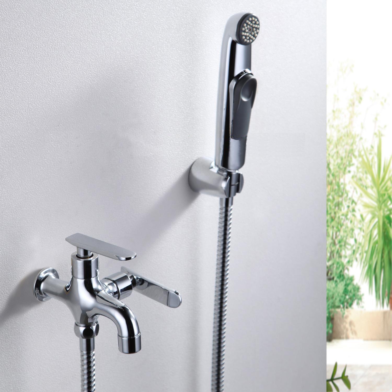 2017 Modern Toilet Bidet Faucet Handheld Portable Wash Cleaner