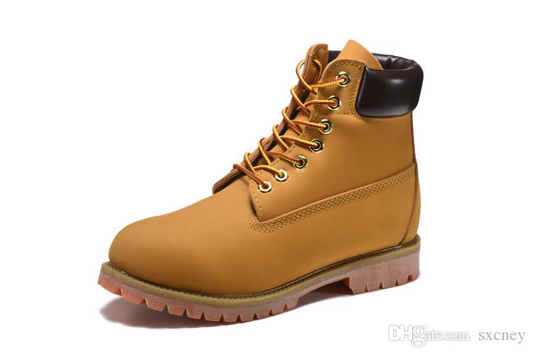 Fashion Classic Wheat Yellow Boots Men Retro Waterproof Outdoor Work Sports Shoes Casual Sneakers Size 40-45