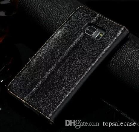 삼성 갤럭시 S7 가장자리를 들어 삼성 S7 에지 케이스 정품 플립 커버 지갑 럭셔리 원래 화려한 슬림 가죽 케이스를위한 새로운