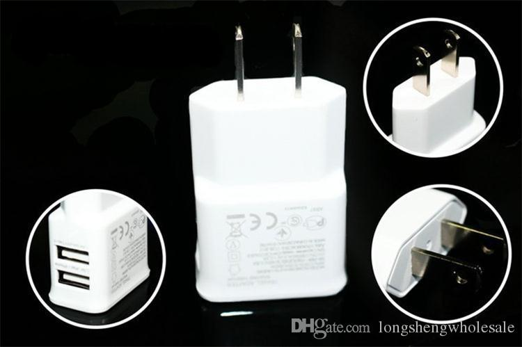 Dual Ports USB AC Wall Charger 5V 2A EU Plug Power Adapter for Universal smartphone android mobile phone made in China
