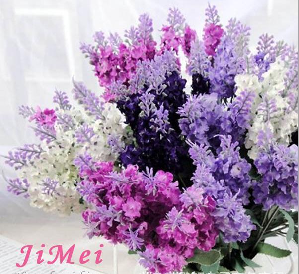 2019 Lavender Bush Bouquet Simulation Silk Artificial