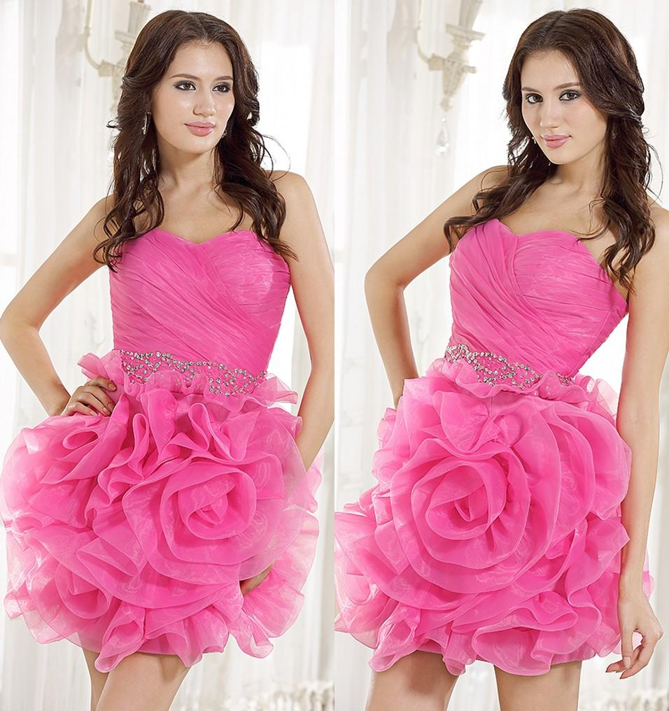 Cute Short Pink Prom Dresses – fashion dresses
