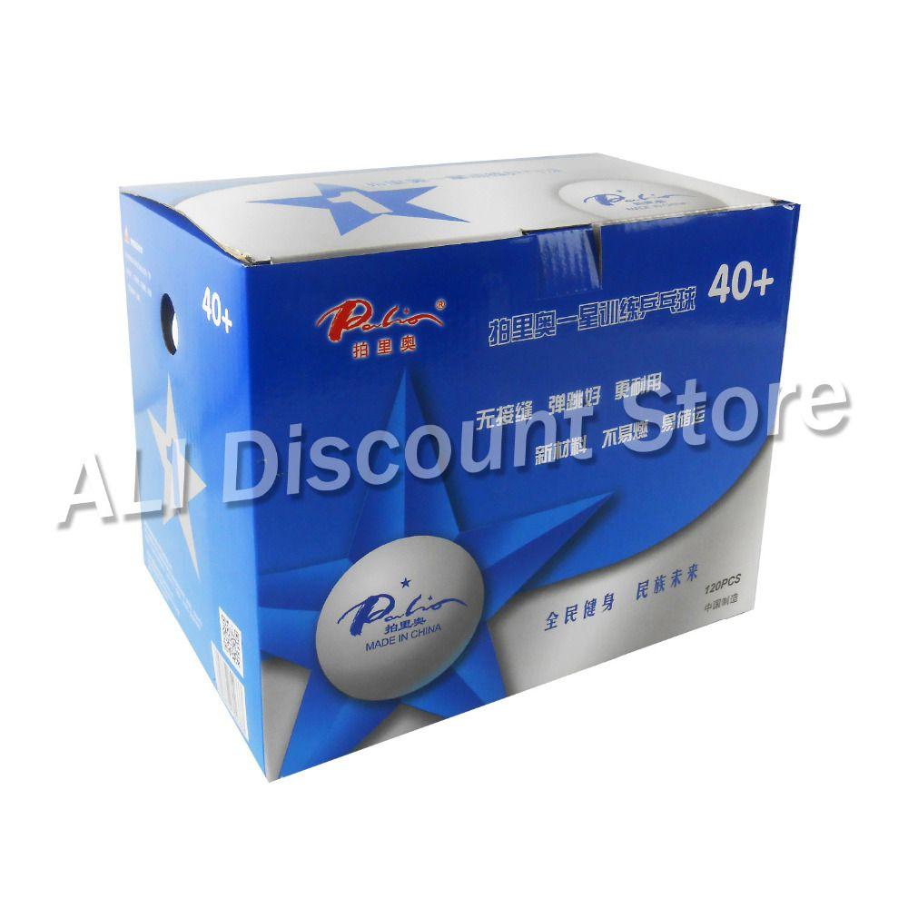 Wholesale- 120PCS Palio 1 Star 1-Star 40+ New Materials White Training  Table Tennis Balls