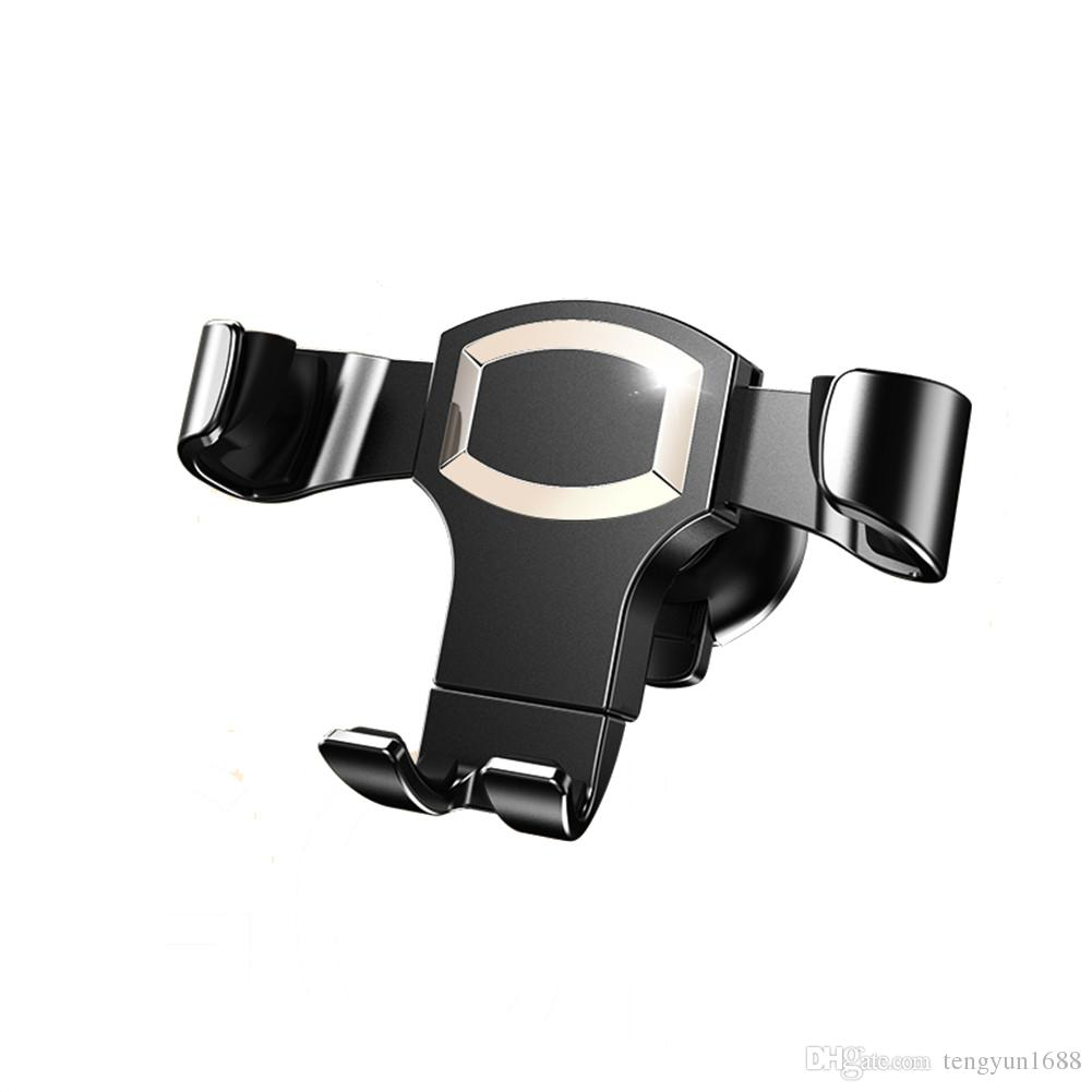 Car Phone Mount, Gravity Self-locking Design y Base antideslizante para iOS Android Smartphone, Universal Car Mobile Phone Cradle -Gold