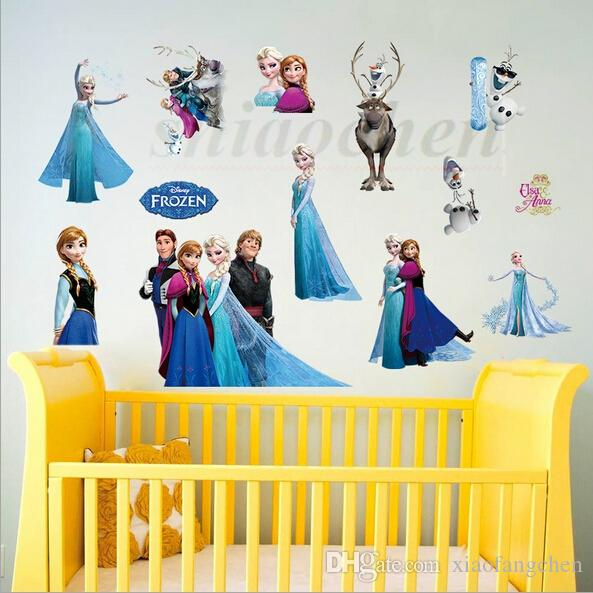 Frozen Wall Stickers Elsa Mural Backdrop Bedroom Living Room Poster Sofa  Anna Wallpapers Removable Wall Stickers Home Nursery Decor A74 100 Wall  Decals For ...