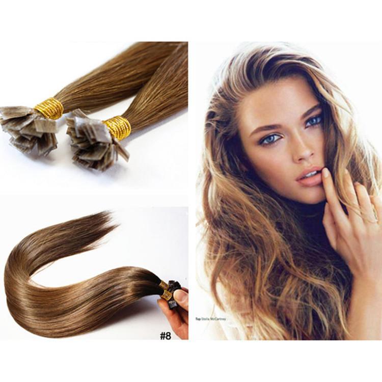 Flat Tip Keratin Hair Extension 18 28 Brazilian Remy Fusion Hair
