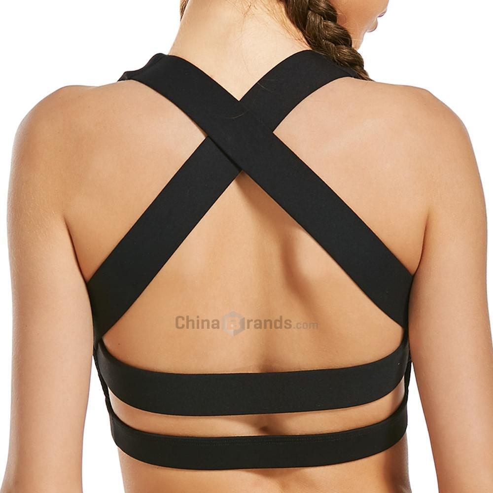 2b4335870948c 2019 Wholesale 2017 New Fashion Sport Bra Top Sexy Underwear Sports  Clothing Back Criss Cross With Mesh Panel From Hupiju