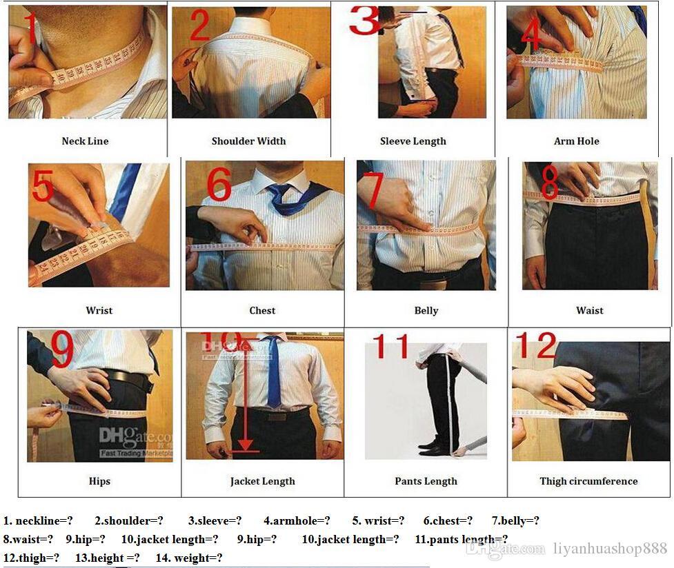 Popular Tailcoat Groom custom made Men Wedding Suits Jacket+Pants+vest+tie A06
