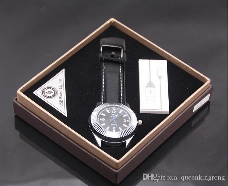USB montre hommes montres à quartz rechargeable allume-cigare USB mode montres montre plus léger usb plus léger