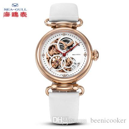 aeba4525c Brands Seagull Watch Ladies Automatic Mechanical Watch Fashion Trend Hollow  Women's Wristwatch Time Goddess