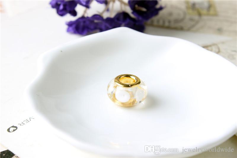 무라노 유리 매력 비드 골드 도금 패션 여성 보석 판도라 팔찌 목걸이에 대한 멋진 유럽 스타일 PANMB040