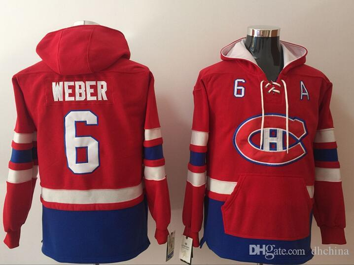 Montreal Canadiens Hoodies Jerseys  6 Weber Hockey Hoody Red Color ... f9ab0f394