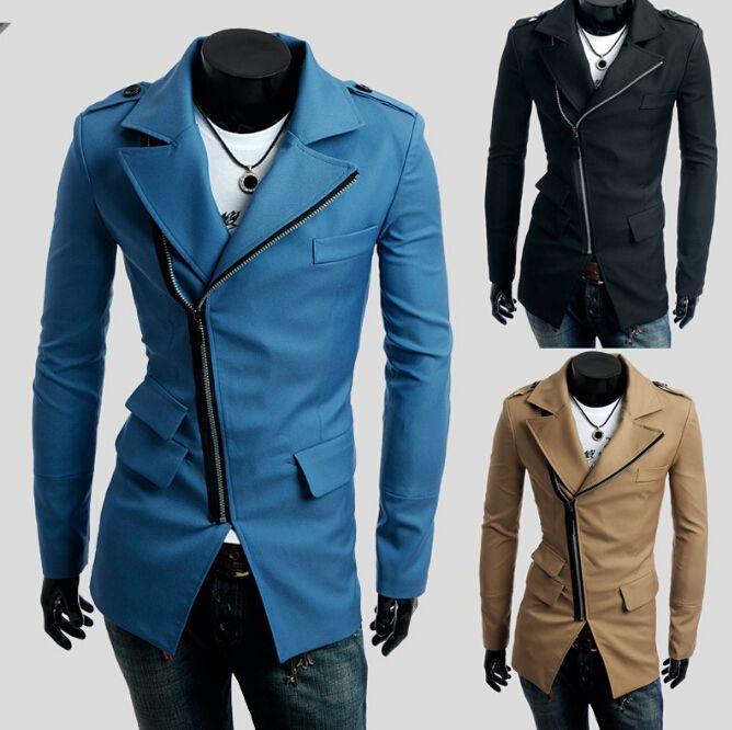 2017 Hot Sell Men Casual Trench Coat Mens Winter Coats Lapel Men ...