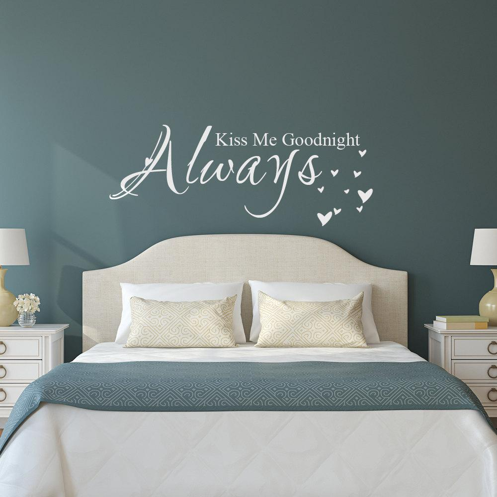 Love Quote Vinyl Wall Decal Sticker Always Kiss Me Goodnight Bedroom Decor  Stickers For Decorating Walls Stickers For Home From Flylife, $4.03|  Dhgate.Com