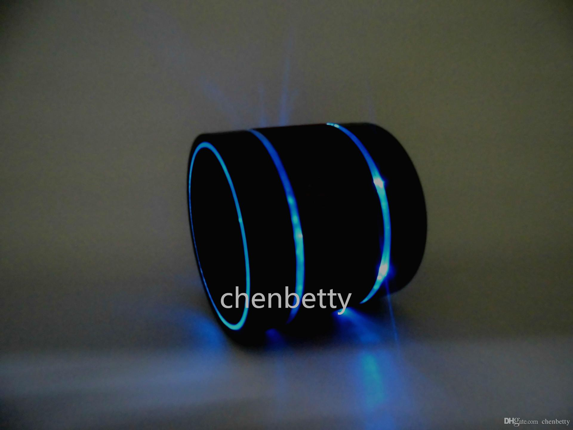 S09 3 Led Light Ring Enhanced Bluetooth Speaker Subwoofer Metal