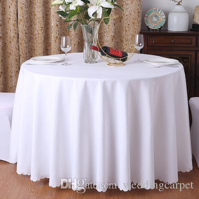 Polyester Fabric Solid Round White Table Cloth For Hotel Wedding Party  Decoration Rectangle Tablecloth For Home Cloth Table Covers Circular  Tablecloth From ...