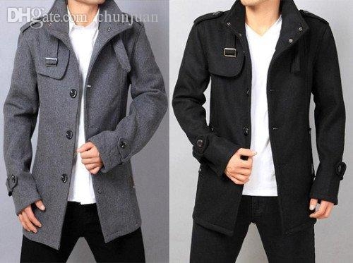 2017 Fall Hot Men'S Uk Style Men Wool Coat Korean Style Winter ...