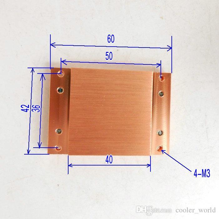Bloc chauffant en cuivre calorifugé calorifugé en cuivre 6 trous pour diamètre 6mm heatpipe