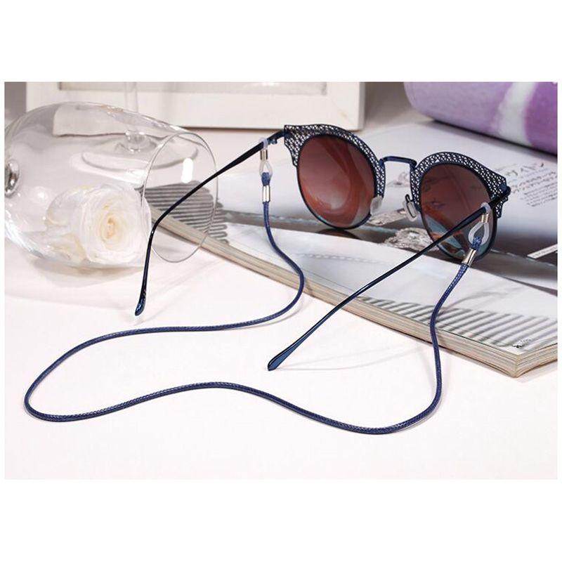 PU-Leder-Brillen-Kabel-justierbarer Endglas-Halter-bunte lederne eyewear Umhängeband-Schnur / geben Verschiffen frei