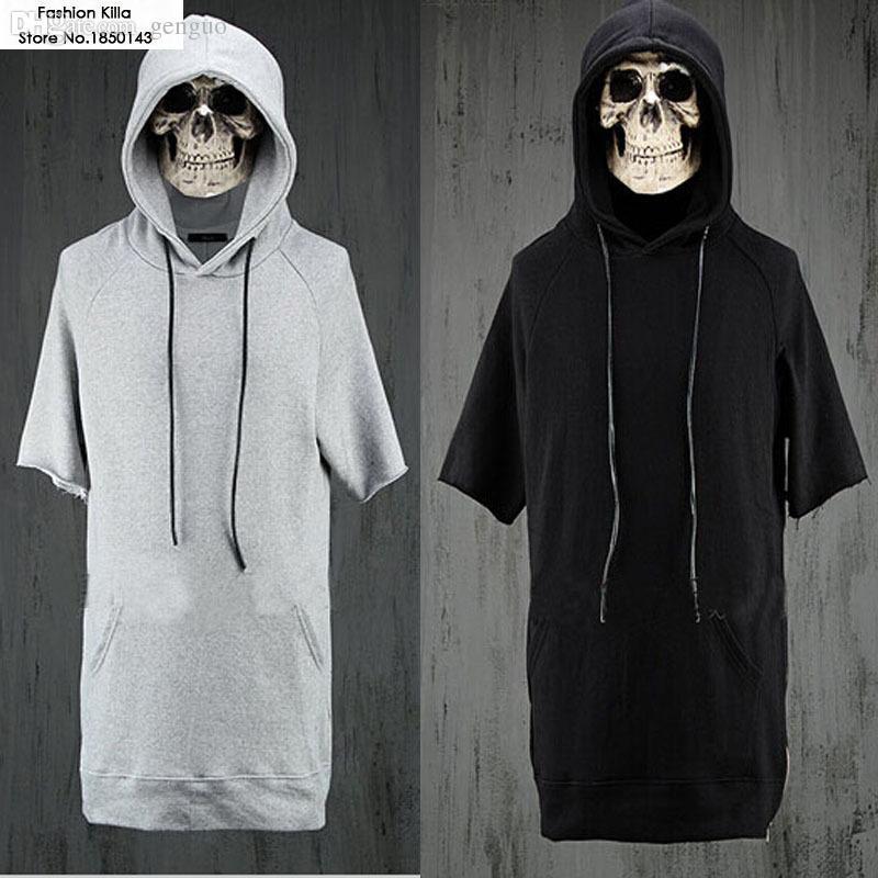 Online Cheap Wholesale Hiphop Fashion Mens Short Sleeve Hoodies ...