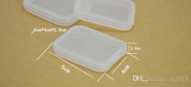 Protection Cas Carte Container Carte Mémoire Boîtes Carte CF Outil En Plastique Transparent De Stockage Facile à Porter livraison gratuite