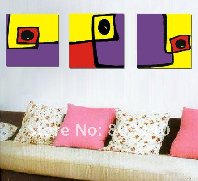 abstract yellow purple red oil painting canvas fashion artwork high quality handmade modern office home hotel decor wall art abstract oil painting canvas - Purple Hotel Decor