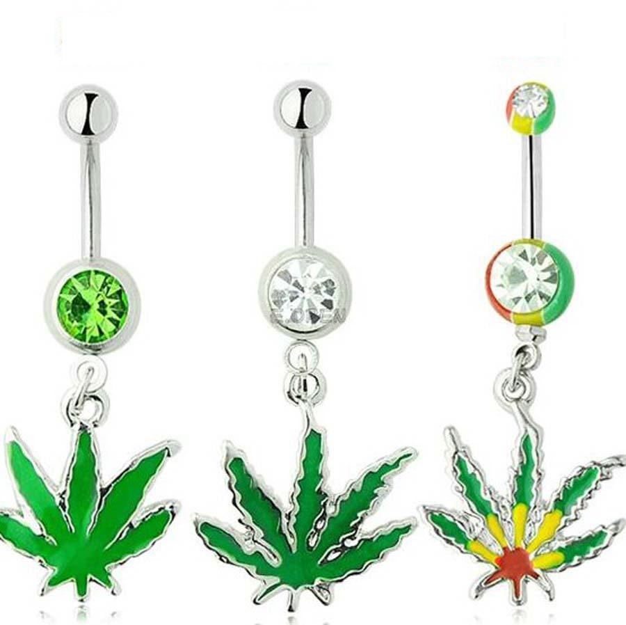 dangle navel piercing belly button naval rings flower steel set products stainless jewelry crystal