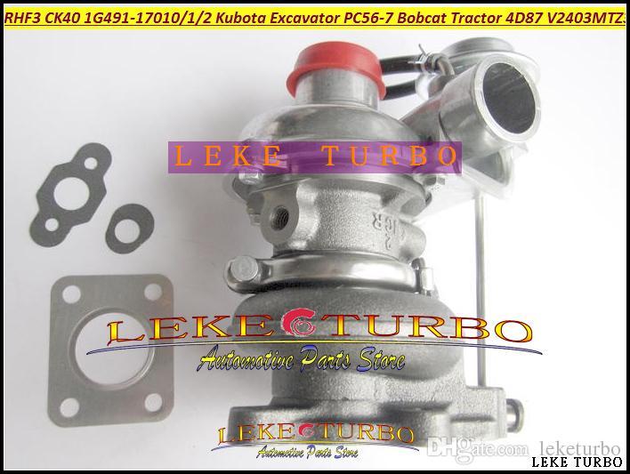 RHF3 VD410096 CK40 1G491-17010 1G491-17011 1G491-17012 Turbo Turbocharger For Kubota Excavator PC56-7 Bobcat Tractor 4D87 V2403-M-T-Z3B
