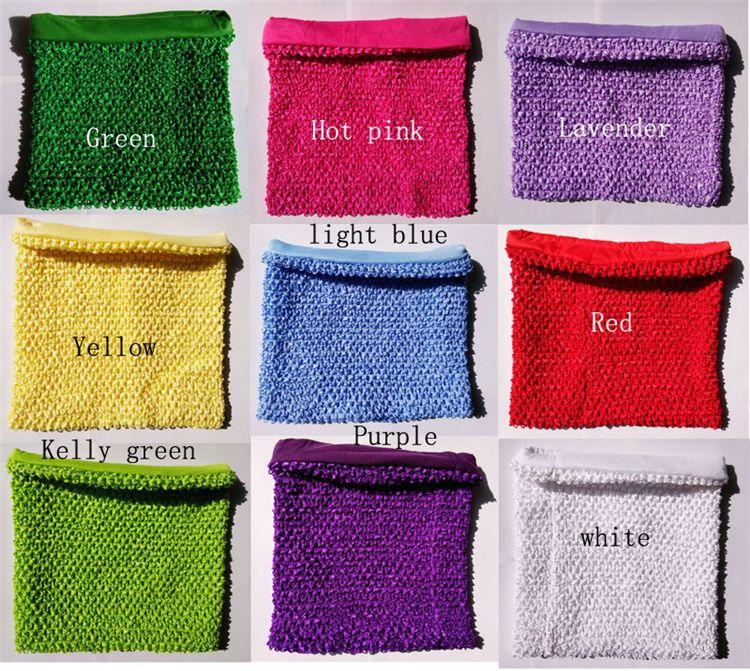 5237f865140dd Acheter Bébé Filles 10 Pouces Doublé Crochet Tutu Tube Tops Bandes Poitrine  Wrap Large Pour Diy Artisanat Tutu Jupe Robes Crochet Tutu Haut De  5.28 Du  ...