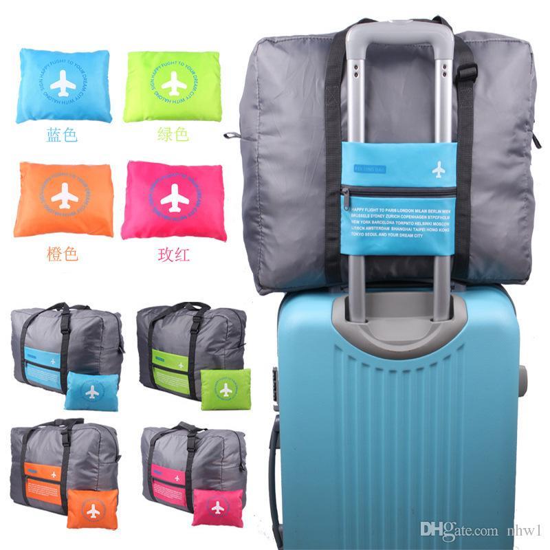 024ef3d64 Big Capacity Travel Stuff Sacks Brand New Nylon Folding Bag Waterproof  Flight Trolley Bag Stuff Packs