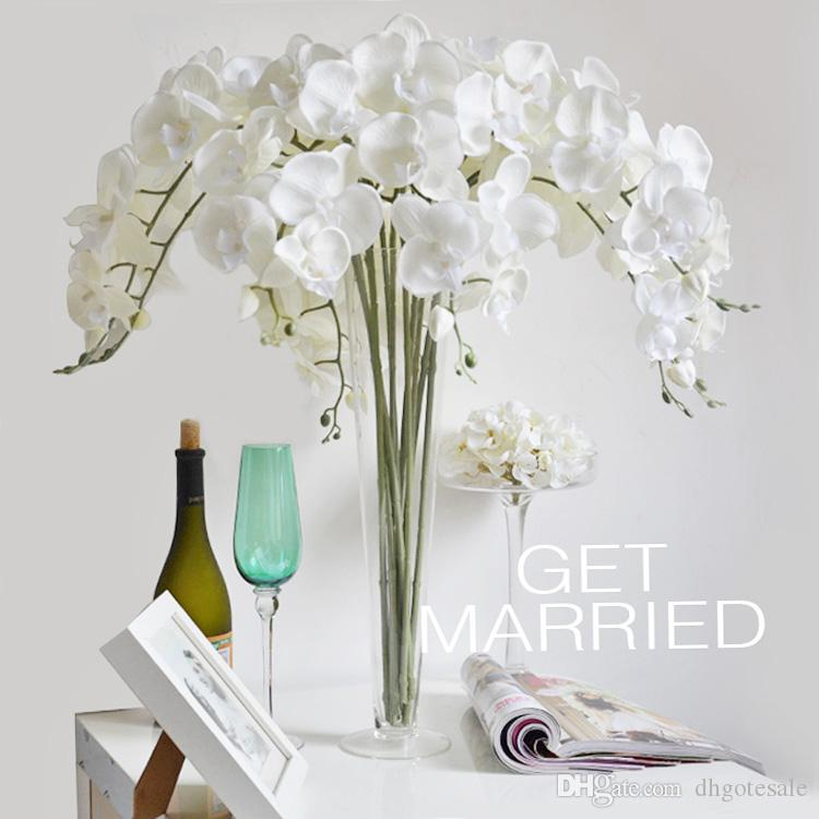 Orchid Flower Arrangements For Weddings: 2019 One Fake Orchid Flowers Phalaenopsis Medium Size