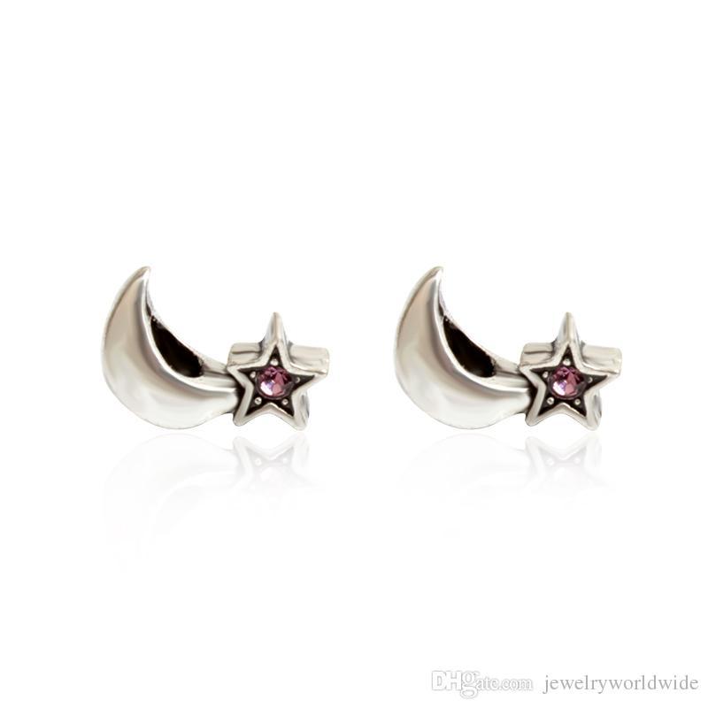 Étoile de nuit cristal charme perle mode bijoux des femmes superbe design style européen pour bracelet pandora