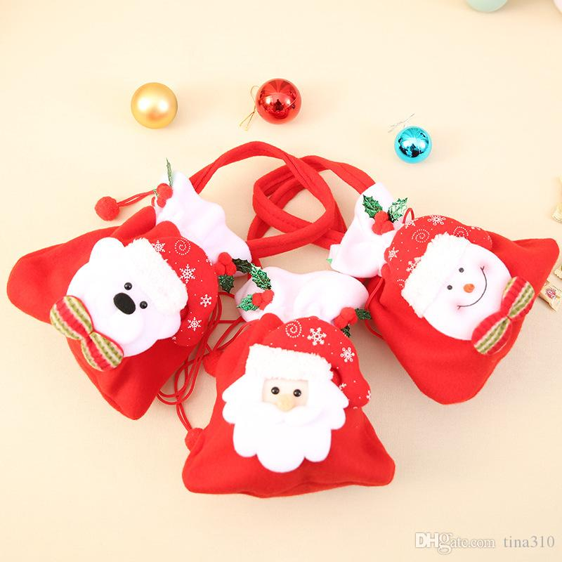 hot christmas bags santa claus gift bags christmas candy bag gift package bulk set of multi style colored goodie bags sacks ib507 discount christmas outdoor - Bulk Christmas Candy