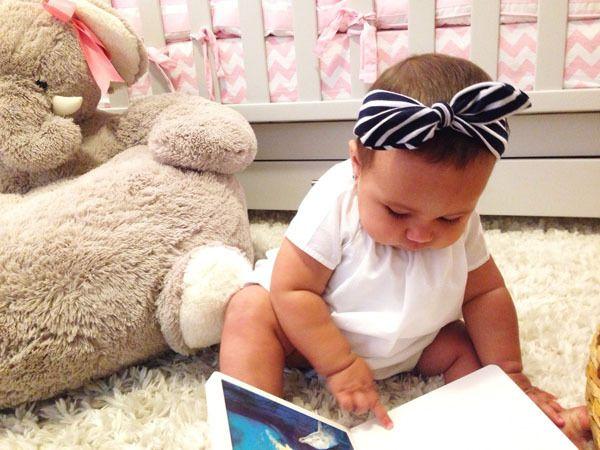 2015 Nova Hot Striped Baby Hairband Meninas Adorável Bow Banda De Cabelo Infantil Bunny Bunny Hare Rabbit Hare Headwrap Crianças Bow Headband Elastic A6402