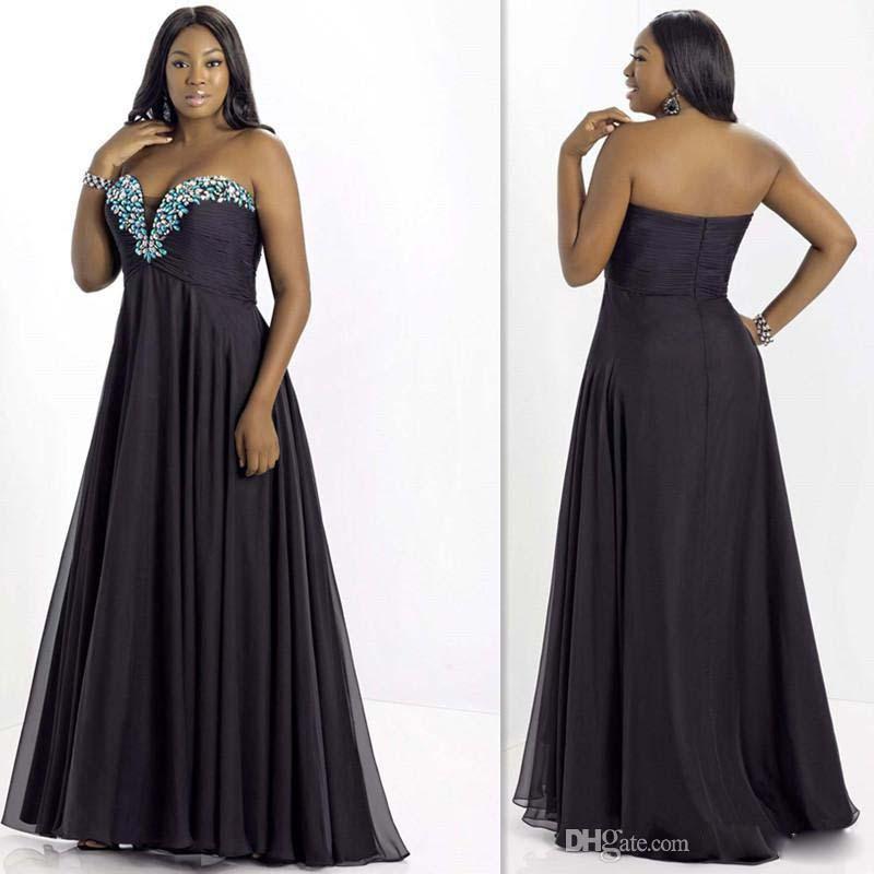 Discount Designer Evening Dresses: 2015 Cheap Plus Size Evening Dresses Designer Black