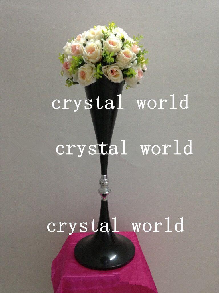 70 CM Metalowy Czarny Żelaza Chorme Świecznik Uchwyt z Stojakiem Kwiatem, Wedding Flower Stand Centerpiece