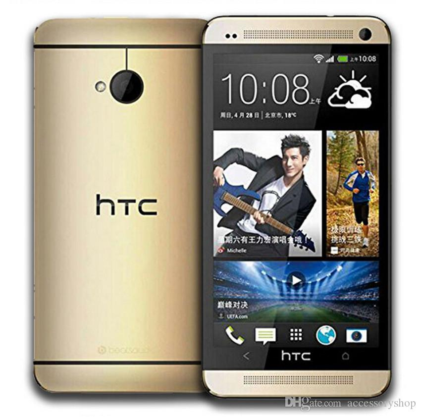Refurbished Original HTC ONE M7 3G Unlocked 4.7 inch Quad Core 2GB RAM 32GB ROM WIFI GPS Android Smart Mobile Cell Phone Free DHL