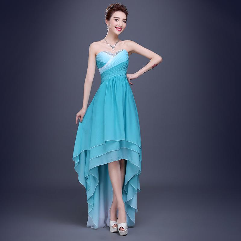 Sky Blue Sweetheart Short Wedding Dress_Wedding Dresses_dressesss