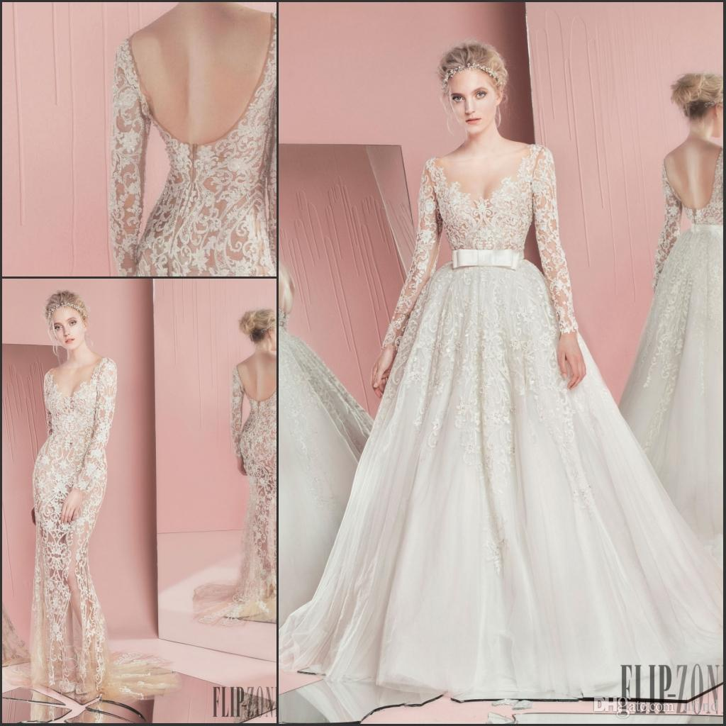 Discount Newset 2016 Spring Zuhair Murad Bridal Gown Sexy See ...