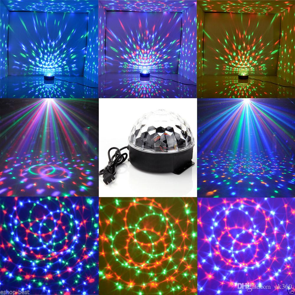 Lights & Lighting Dmx512 Led Stage Lighting Multi Color Remote Controller Crystal Magic Ball Laser Light Disco Dj Party Birthday Room Decor Tw