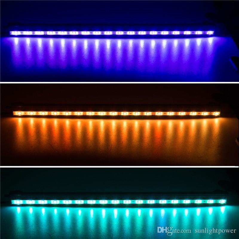 Meilleure Qualité 6W 18LED 46CM RVB Couleur LED Fish Tank Plant Aquarium Led Lumière Sous-marine Bubble Light Lampe Avec À Distance