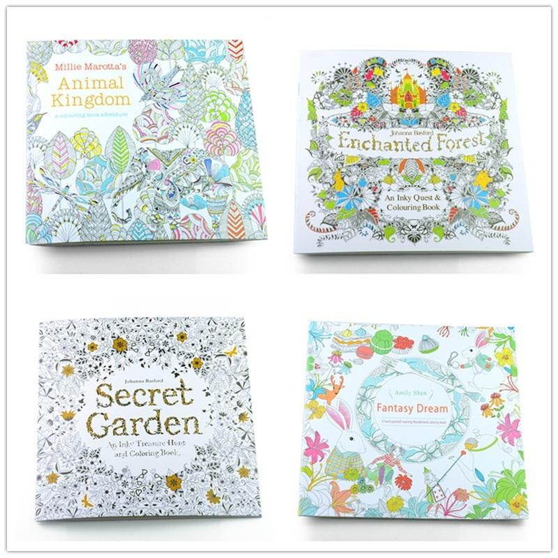 Prettybaby Secret Garden Enchanted Forest Animal Kingdom Art Inky Coloring Book Adult Relieve Stress Painting 24 Pages For Kids