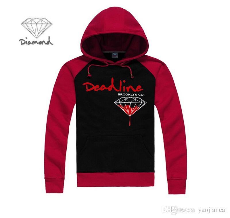 Высшее качество!!! 2016 алмаз зимние мужские толстовки модный бренд мужские кофты мужские спортивная верхняя одежда плюс размер S-XXXL