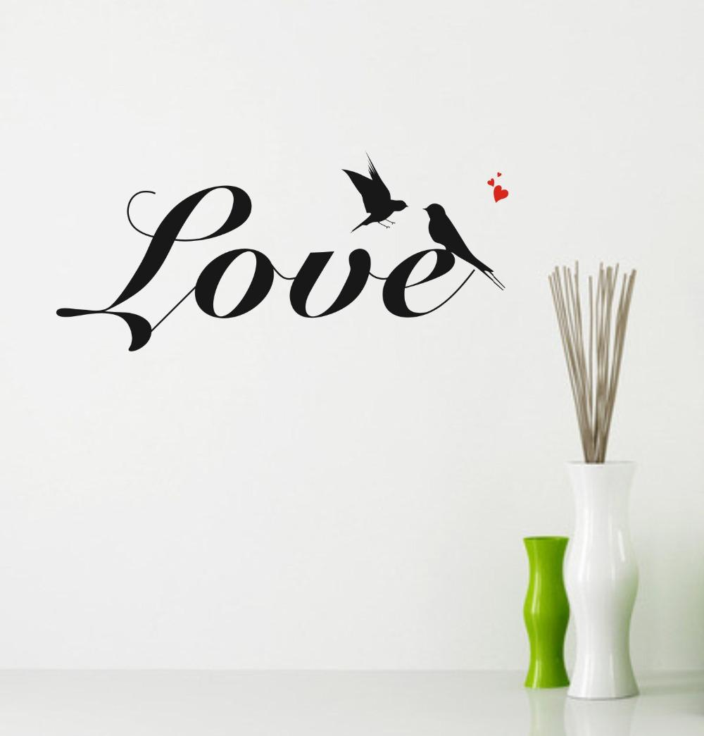 Love Wall Quotes Wall Quotes Swallow Love Wall Decals Pvc Removable Art Home Wall