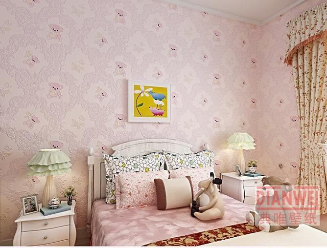 Teddy bear children 3d wallpaper rolls pink and blue non for 3d wallpaper for baby room